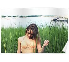 Warwick Cove Marina with Kristina (Rhode Island Arts) Poster