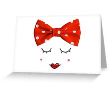 Miss. Red Greeting Card