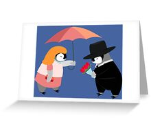 Propose Penguin Greeting Card