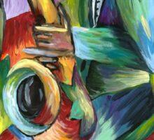 Jazz Saxophone player Sticker
