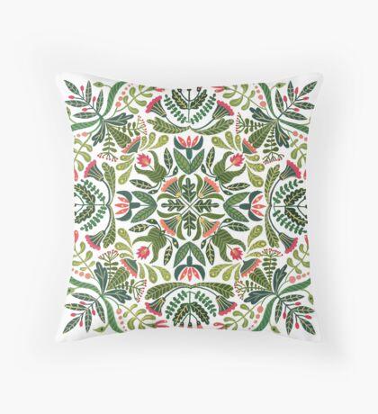 Little red riding hood - mandala pattern Throw Pillow