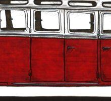 Future bus- red Sticker