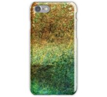 Forest At The Edge Of The Pond in Oil Pastel iPhone Case/Skin