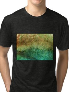 Forest At The Edge Of The Pond in Oil Pastel Tri-blend T-Shirt