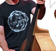 Musician playing cello Sticker