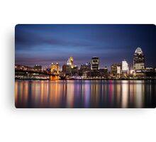 Cincinnati Skyline at Twilight Canvas Print