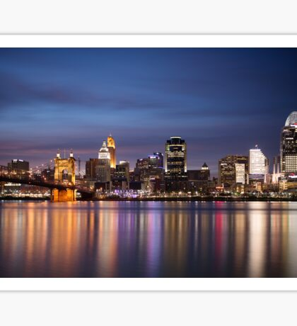 Cincinnati Skyline at Twilight Sticker