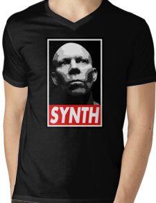 VINCE CLARKE, SYNTH - OBEY Inspired Design Mens V-Neck T-Shirt