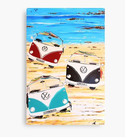 VW Kombi Van Summerluvn Friends Canvas Print