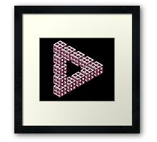 Impossible Optical Illusion Triangle Sticker T-Shirt Cell Phone Case Framed Print