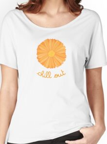 Chill Out - Orange Marigold Women's Relaxed Fit T-Shirt