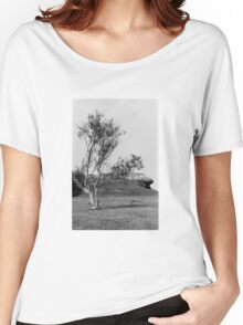 Normandy Landscape Black and White  Women's Relaxed Fit T-Shirt