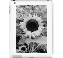 Sunflower Black and White  iPad Case/Skin