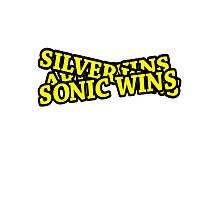 ARIN WINS SILVER WINS SONIC WINS Photographic Print