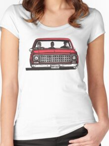 MMM DROP in red Women's Fitted Scoop T-Shirt