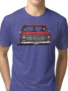 MMM DROP in red Tri-blend T-Shirt