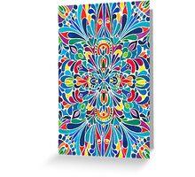 Caribbean inspired  watercolor mandala pattern Greeting Card