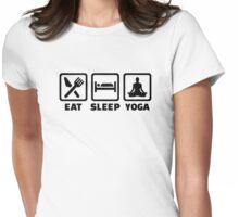 Eat sleep yoga Womens Fitted T-Shirt