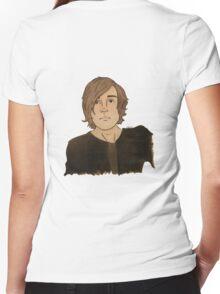 plain kq! Women's Fitted V-Neck T-Shirt