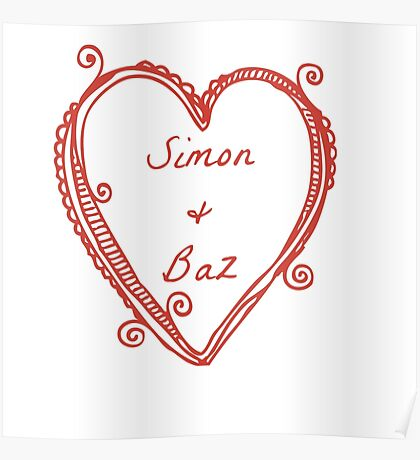"Simon and Baz from ""Carry On"" by Rainbow Rowell Poster"