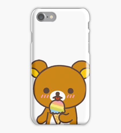 Rilakkuma + Ice Cream! iPhone Case/Skin