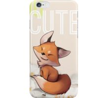 Too Cute iPhone Case/Skin