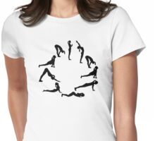 Yoga sun salute Womens Fitted T-Shirt