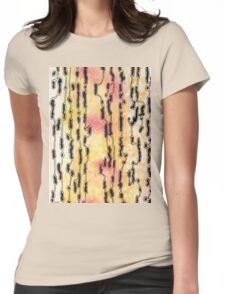 Bush Ants Abstract Original Watercolour and Ink Painting Womens Fitted T-Shirt