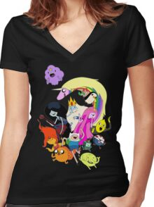 Adventure Time Character RC Women's Fitted V-Neck T-Shirt