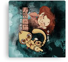 Sushi Chef Neko - Snow Shodou - Junpei and Anzu Design 2 Canvas Print