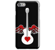 Flying Guitar with Heart iPhone Case/Skin