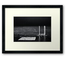 Chicago Pier at Night Framed Print
