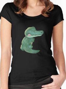 Wee Croco Women's Fitted Scoop T-Shirt