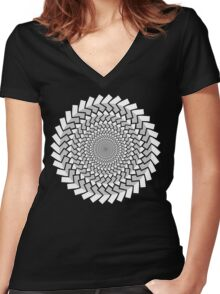 Spirally Arrows! Women's Fitted V-Neck T-Shirt
