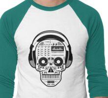 DJ SKULL SPINNING Men's Baseball ¾ T-Shirt