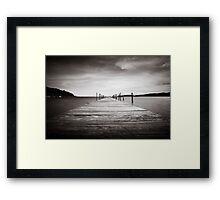 Koh Rong Bay Pier Framed Print