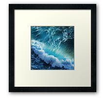 STORM WAVES Framed Print