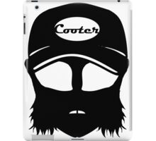 Cooter, White on black iPad Case/Skin