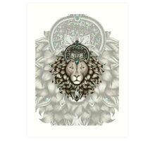 Leo2 -white Art Print