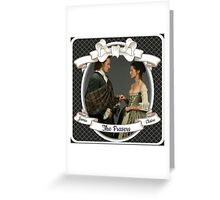 Outlander wedding/Jamie & Claire Fraser/Diana Gabaldon Greeting Card