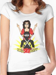 Rock on, Ninja Sex Party! Women's Fitted Scoop T-Shirt