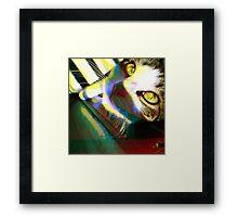 That's One Glitchin' Kitty Framed Print