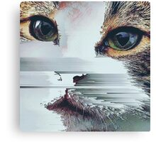 Faded Cat Glitch That Canvas Print