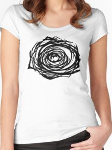 Abstract Flower Women's Fitted Scoop T-Shirt