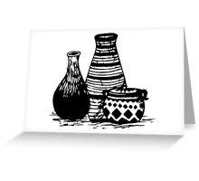 Three Pottery Greeting Card