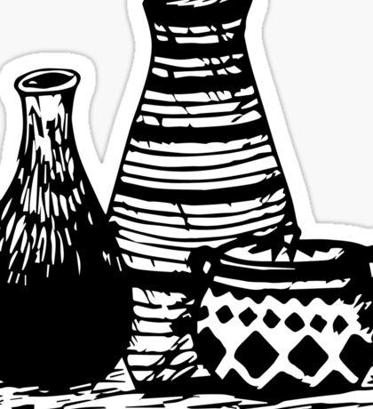 Three Pottery Sticker