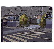 Crossing Ginko Street Photographic Print