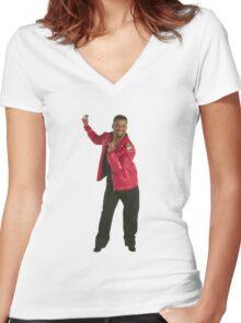 Carlton Dance Women's Fitted V-Neck T-Shirt