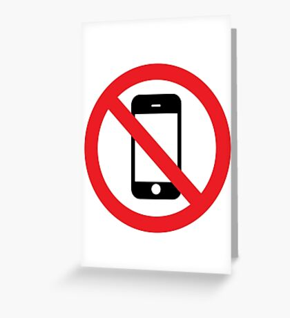 no iphone zone Greeting Card