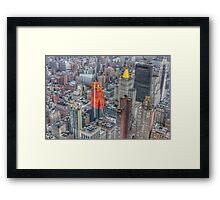 Manhattan New York City cityscape Framed Print